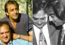 sanjay dutt with father